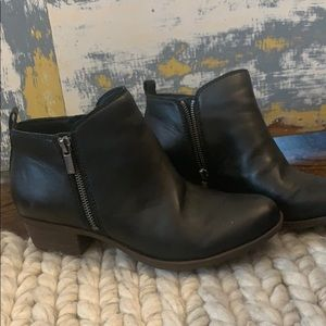 Lucky Brand Basel Booties Black size 8